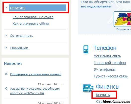 Погашення кредиту онлайн на Україні