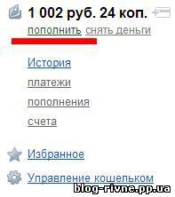 Поповнення Яндекс грошей з України