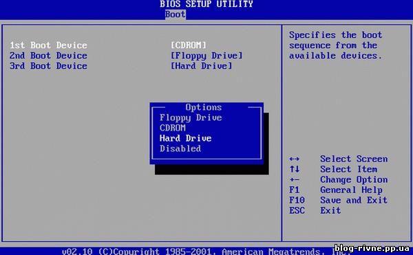 Запуск комп'ютера з диска (флеш-карти).